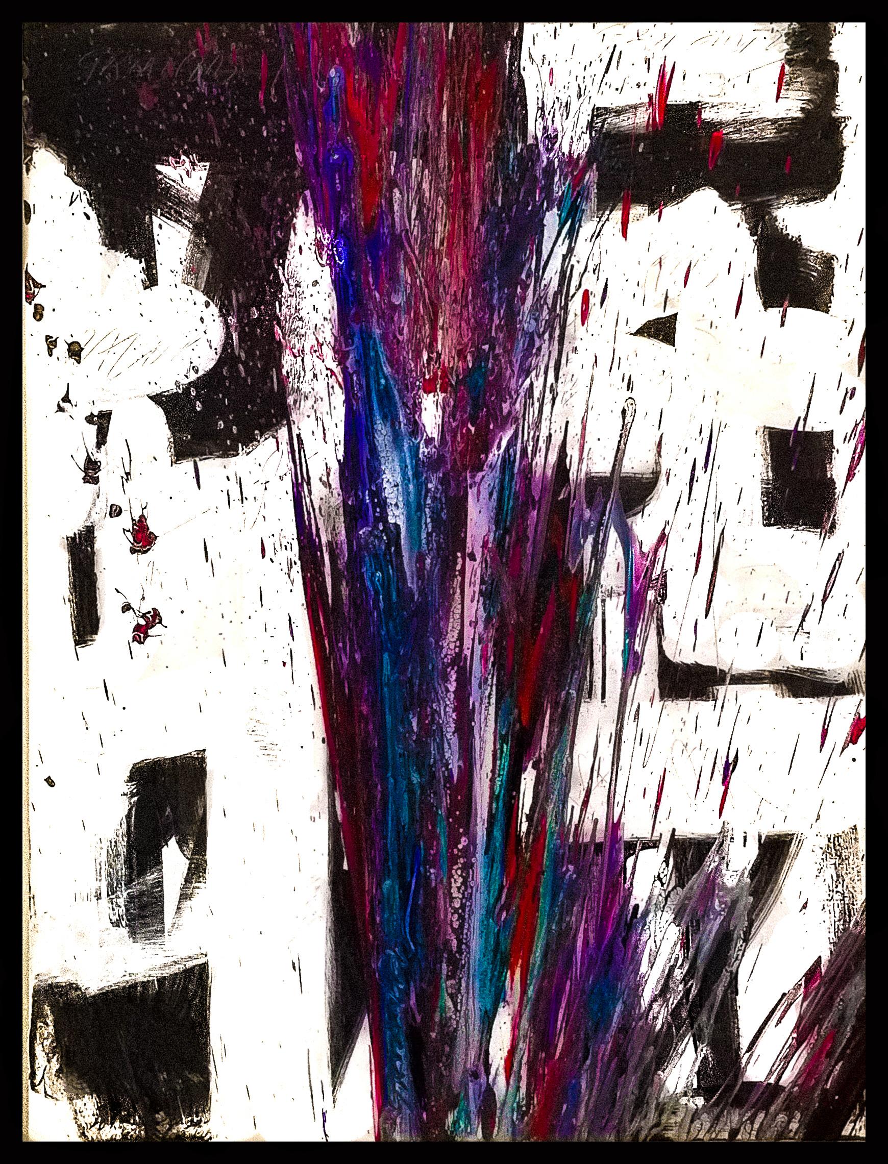 "Splash of Colour 2 #136, 2019, acrylic on canvas, 48"" x 36"" (122 x 91.4)"