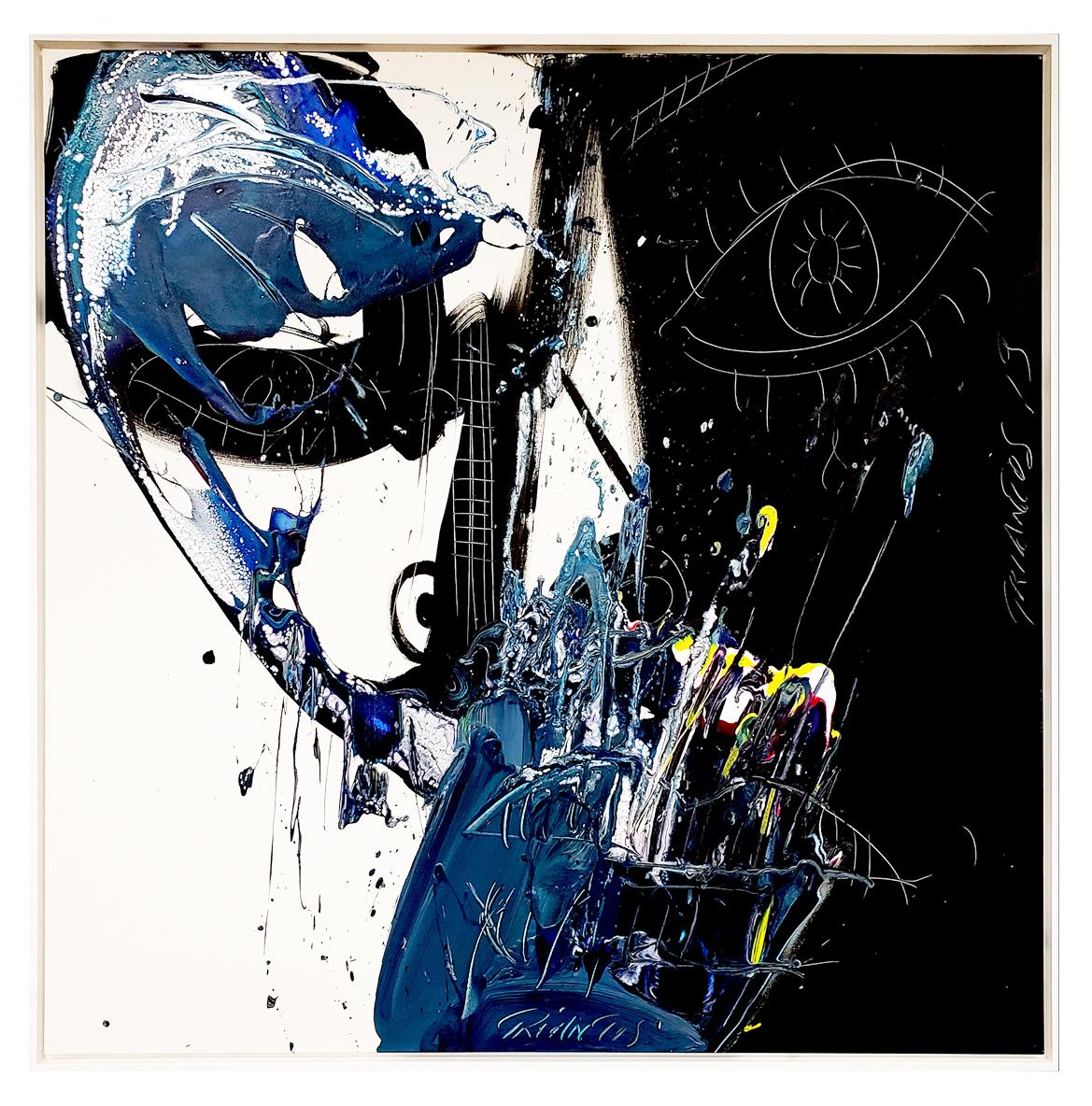 "Untitled #95, 2019, acrylic on canvas, 48"" x 48"" (122 x 122 cm)"