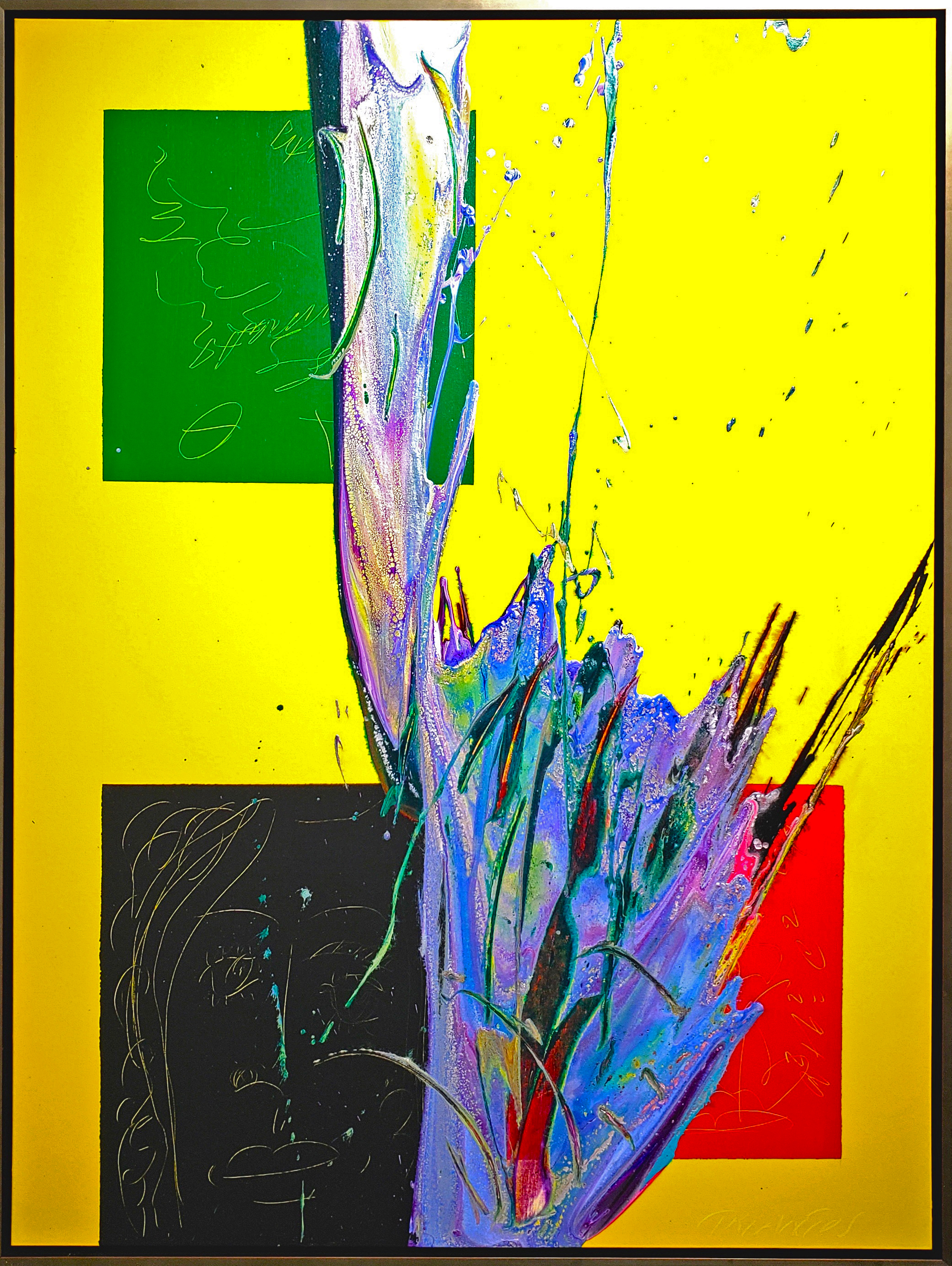 "Splash of Colour 2 # 138, 2019, acrylic on canvas, 48"" x 36"" (122 x 91.4 cm)"