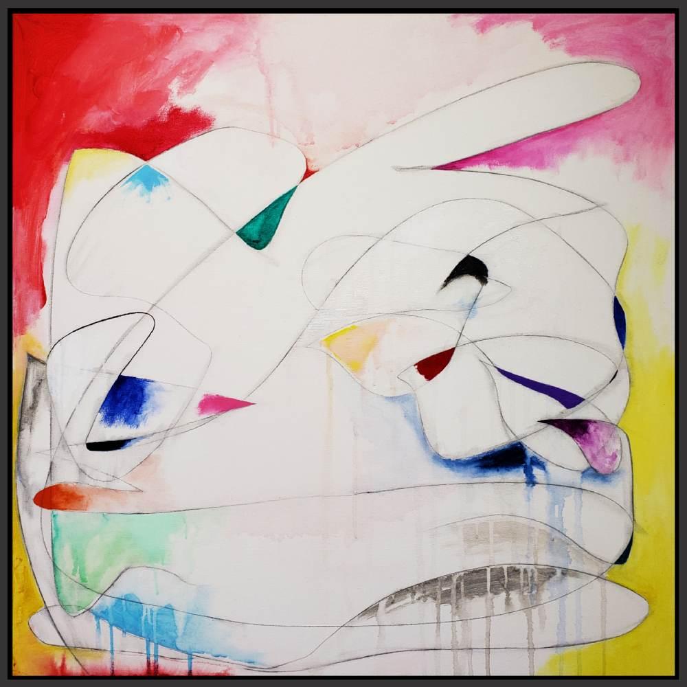 "Untitled#105, 2019, acrylic on canvas, 30"" x 30"" (76 x 76 cm)"