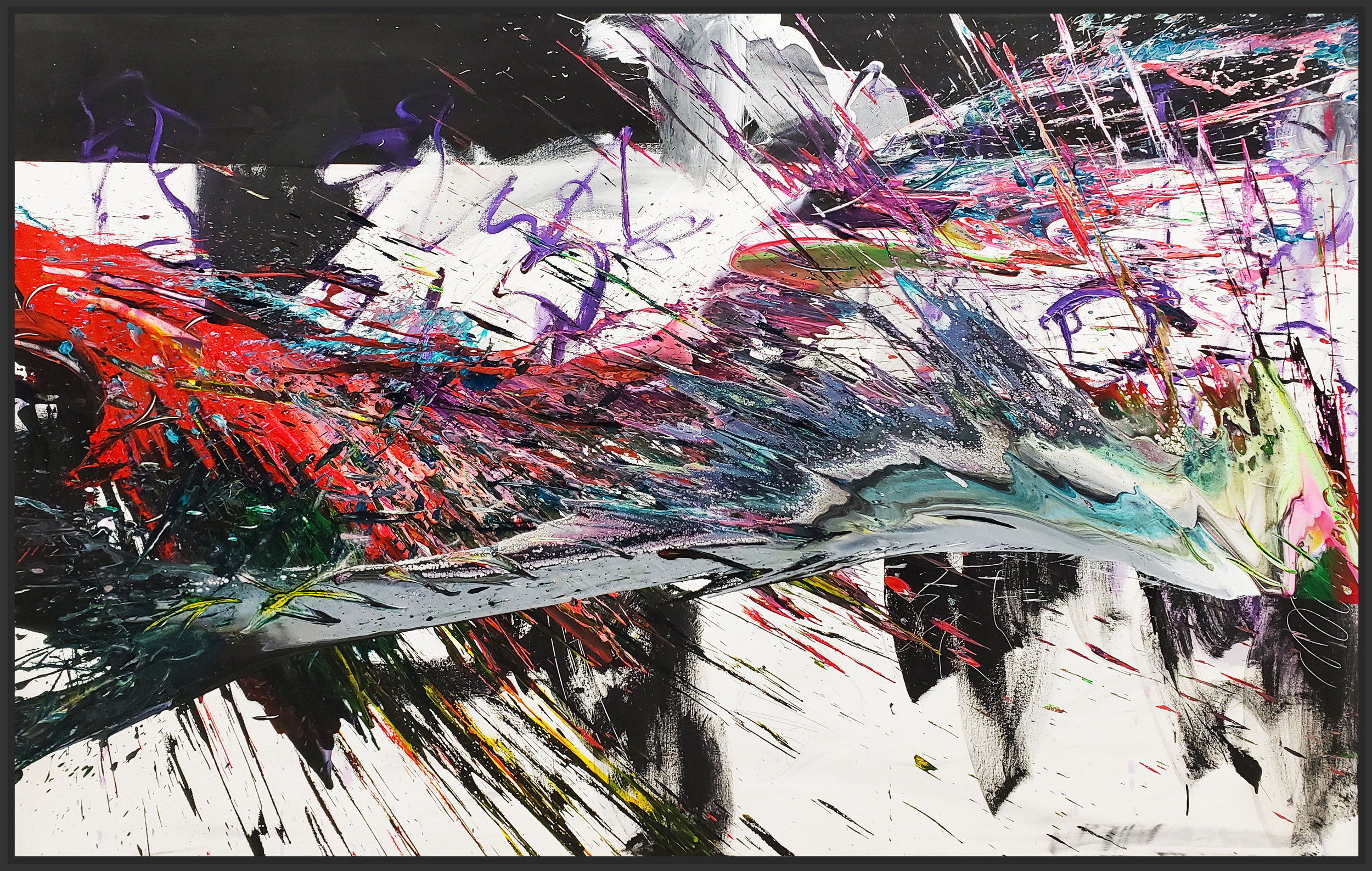 "SP2 #142, 2019, acrylic on canvas, 48"" x 84"" (122 x 213.4 cm)"