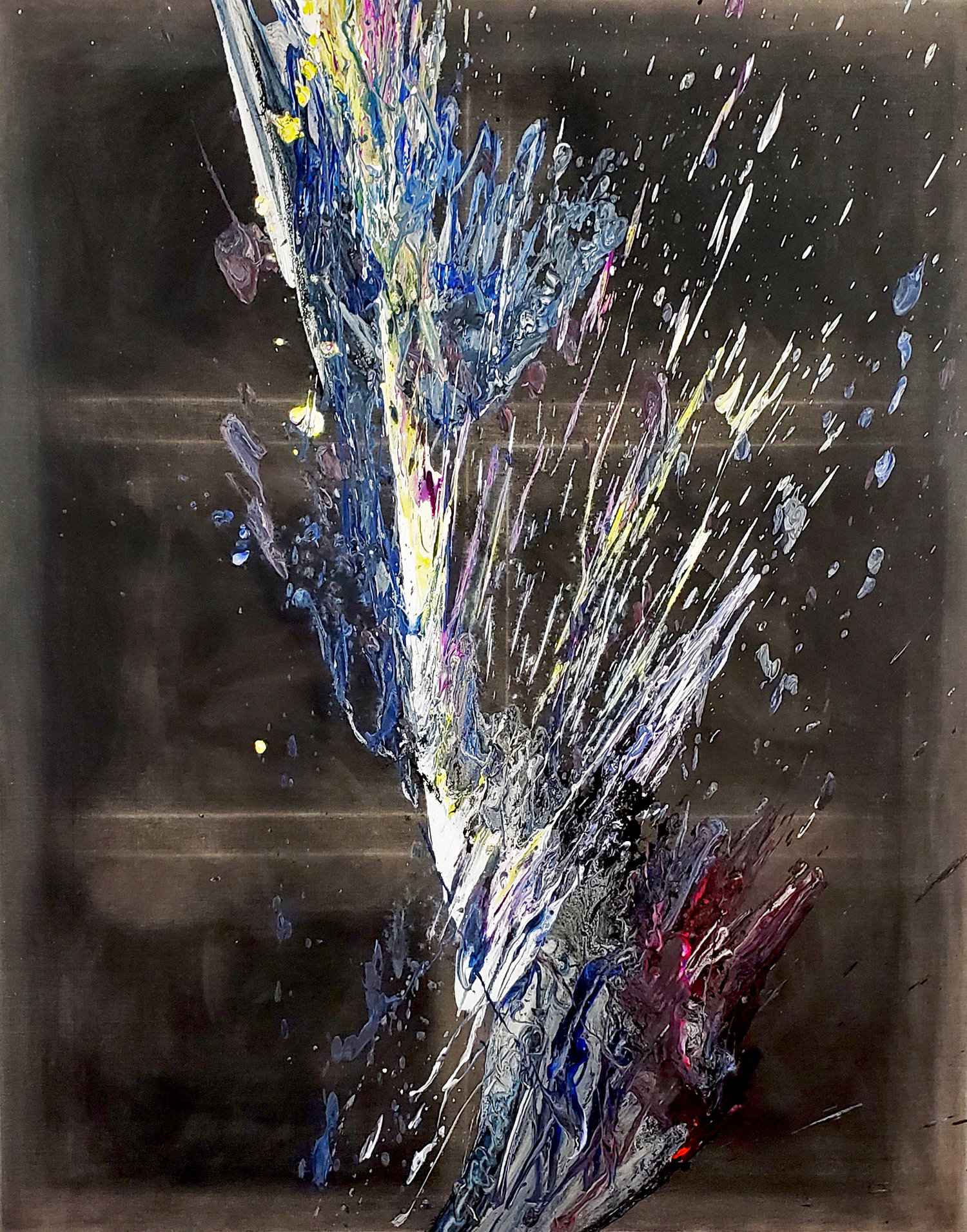 "Splash of Colour 2 #139, 2019, 60"" x 48"" (154 x 122 cm)"