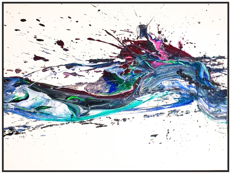 "Splash of Colour 2 #137, 2019, acrylic on canvas, 36"" x 60"" (91.4 x 152.4 cm)"