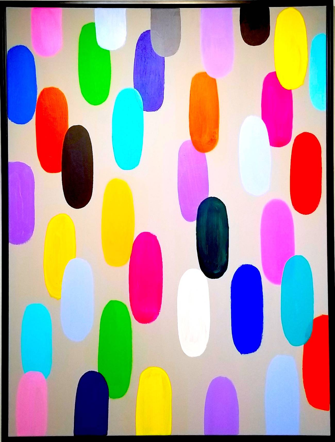 """Jelly Bean #59, 2019, 48"""" x 36"""", acrylic on canvas (122 x 91.4 cm)"""