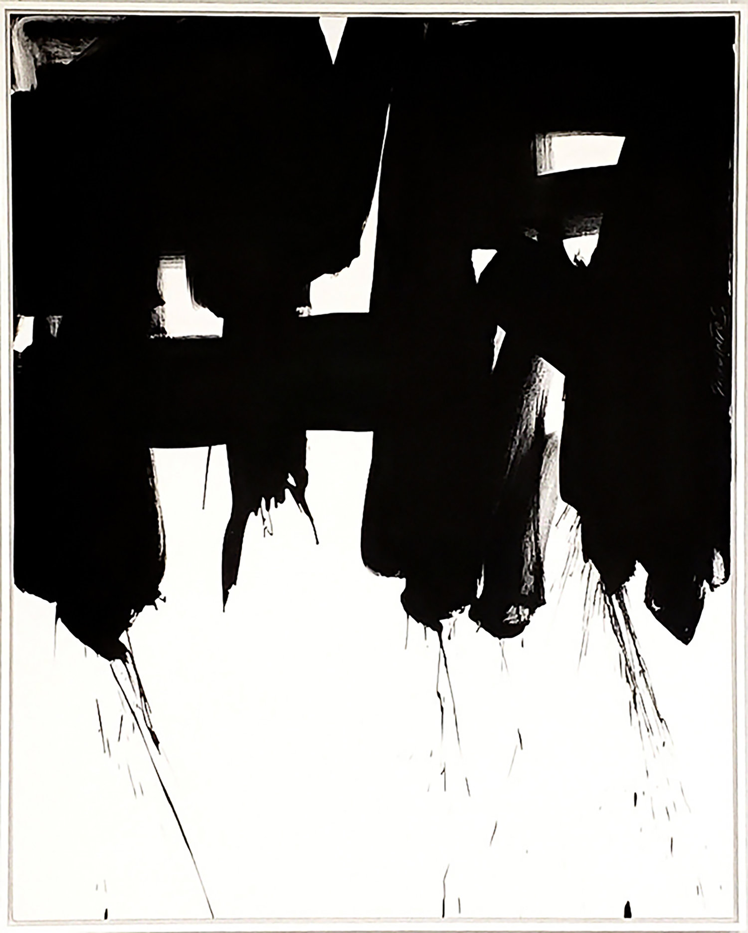 "Black and White #67, 2019, acrylic on canvas, 60"" x 48"" (152.4 x 71 cm)"