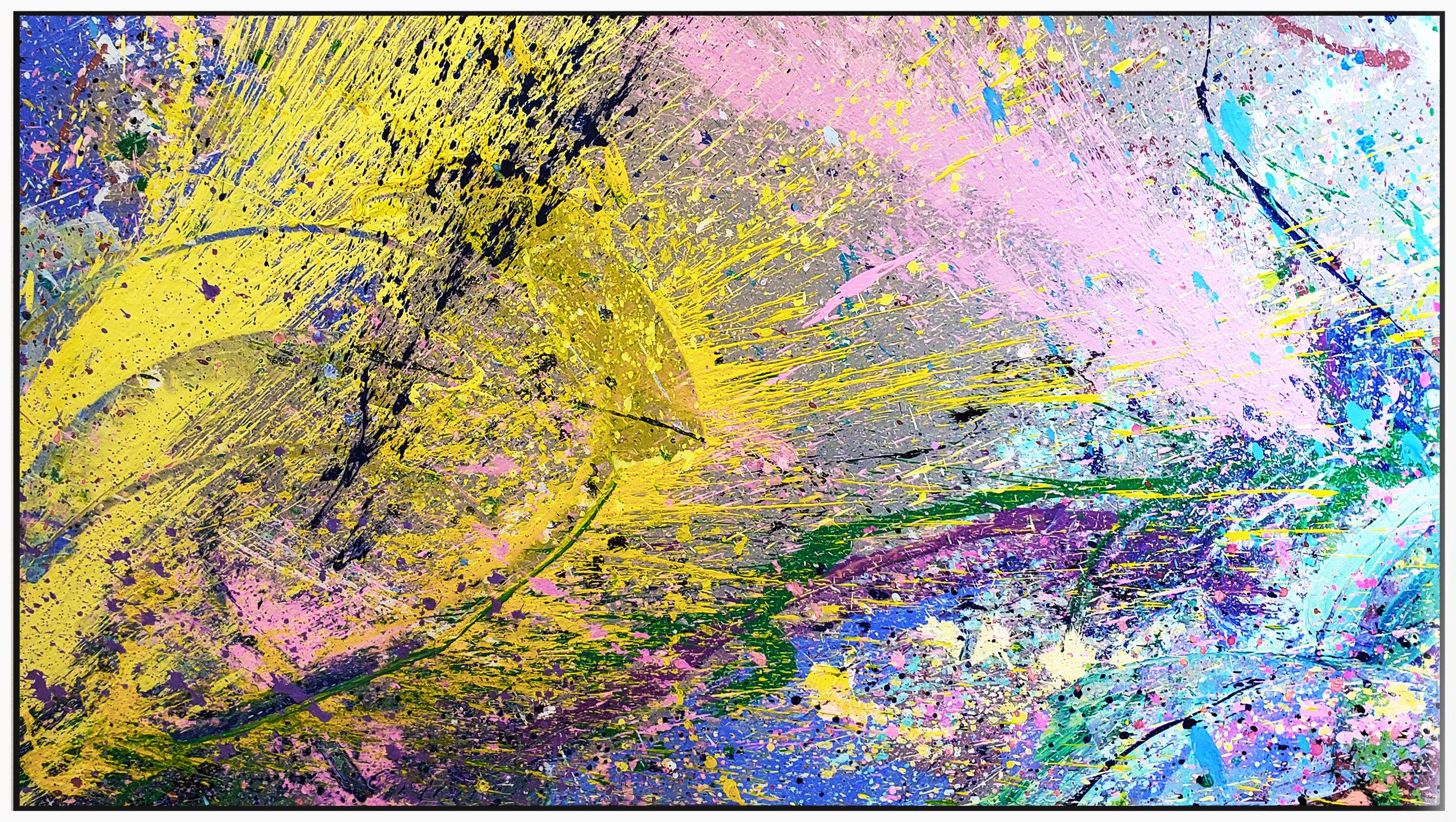 "Napa Valley #83, 2019, acrylic on canvas, 36"" x 60"" (91.4 x 152.4 cm)"