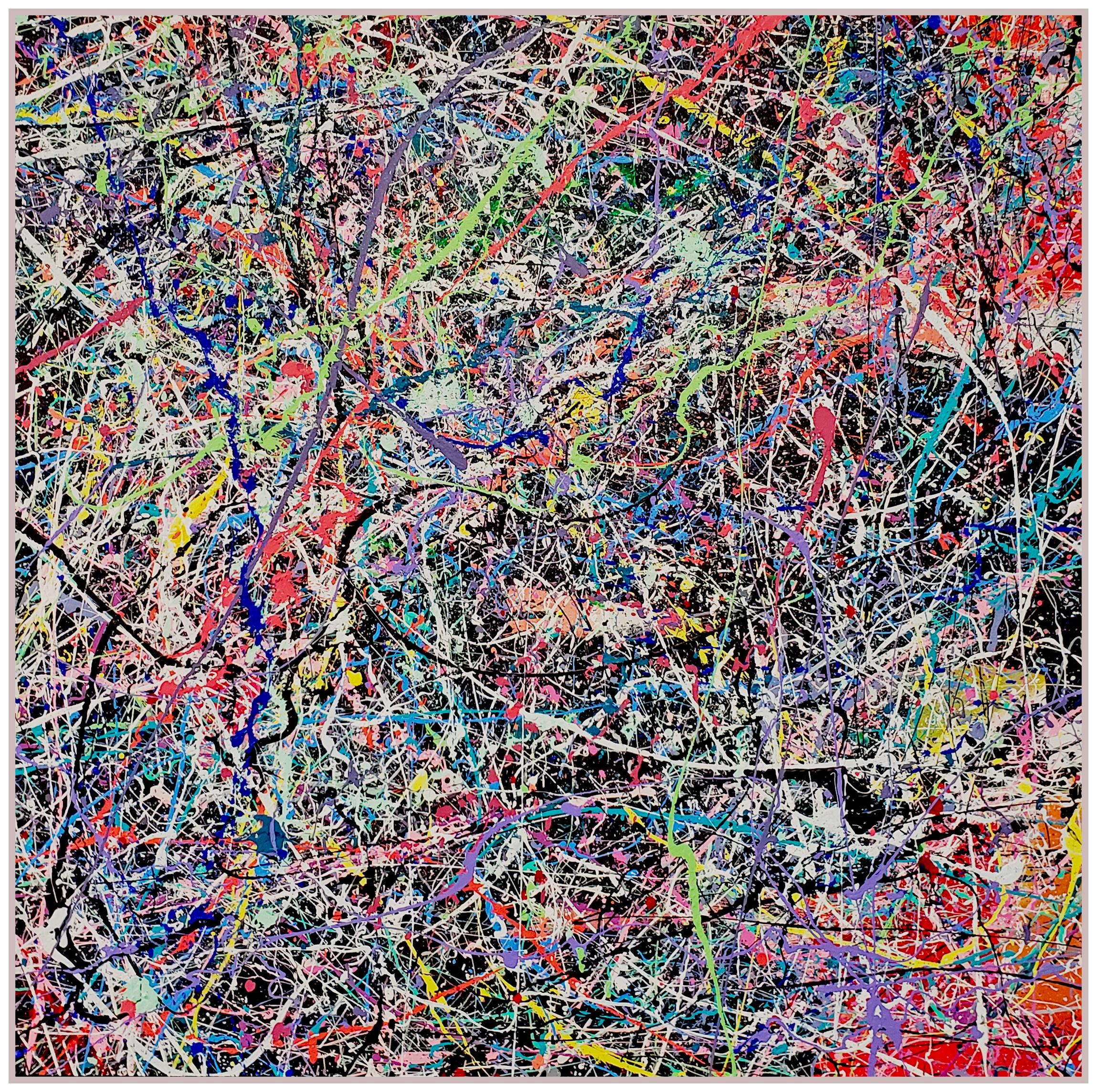 "Winter Paradise #23, 2019, acrylic on canvas, 48"" x 48"" (122 x 122 cm)"