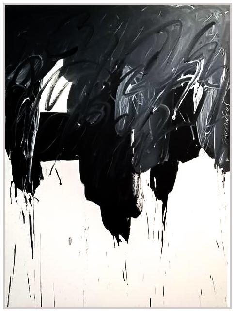 "Black & White #72, 2019, acrylic on canvas, 48"" x 36"" (122 x 91.4 cm)"