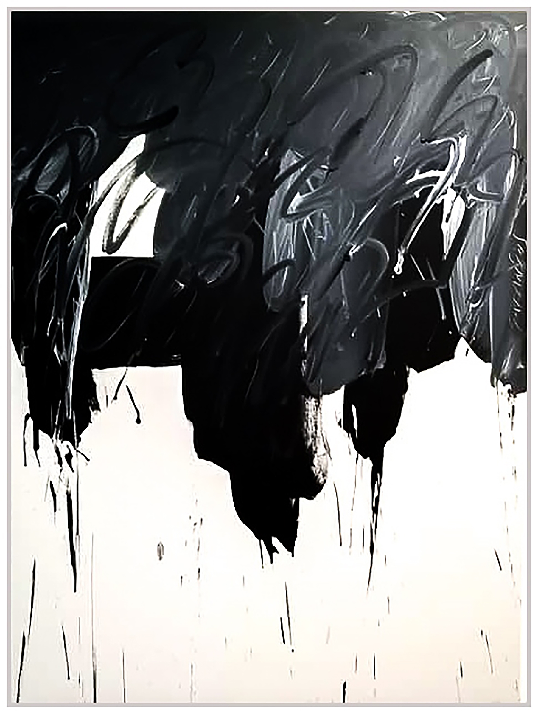 "Black & White #72, 2019, acrylic on canvas, 48"" x 36"" (122 x 91.4 cm)"
