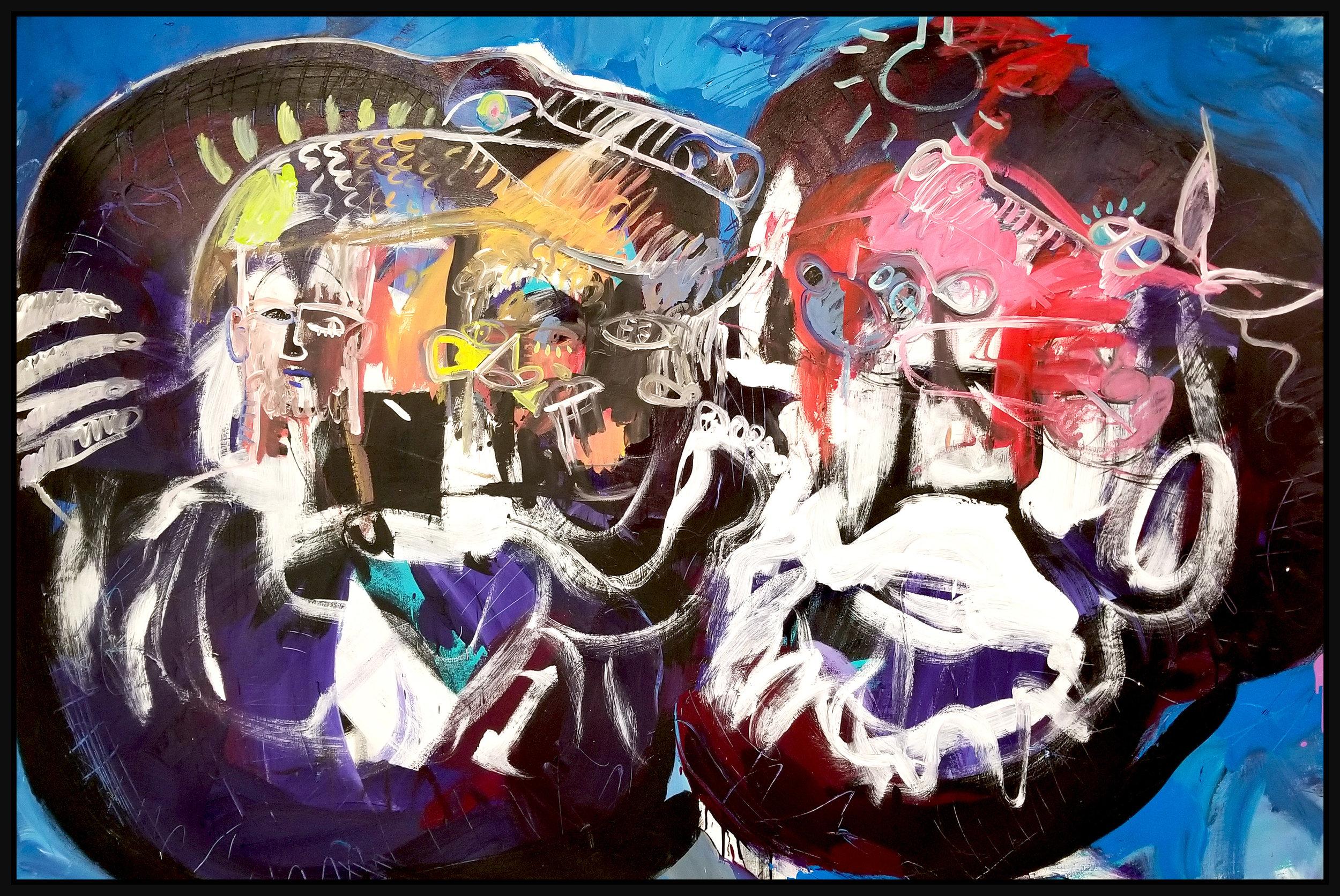 "Untitled #127, 2019, acrylic on canvas, 60"" x 96"" (152.4 x 244 cm)"