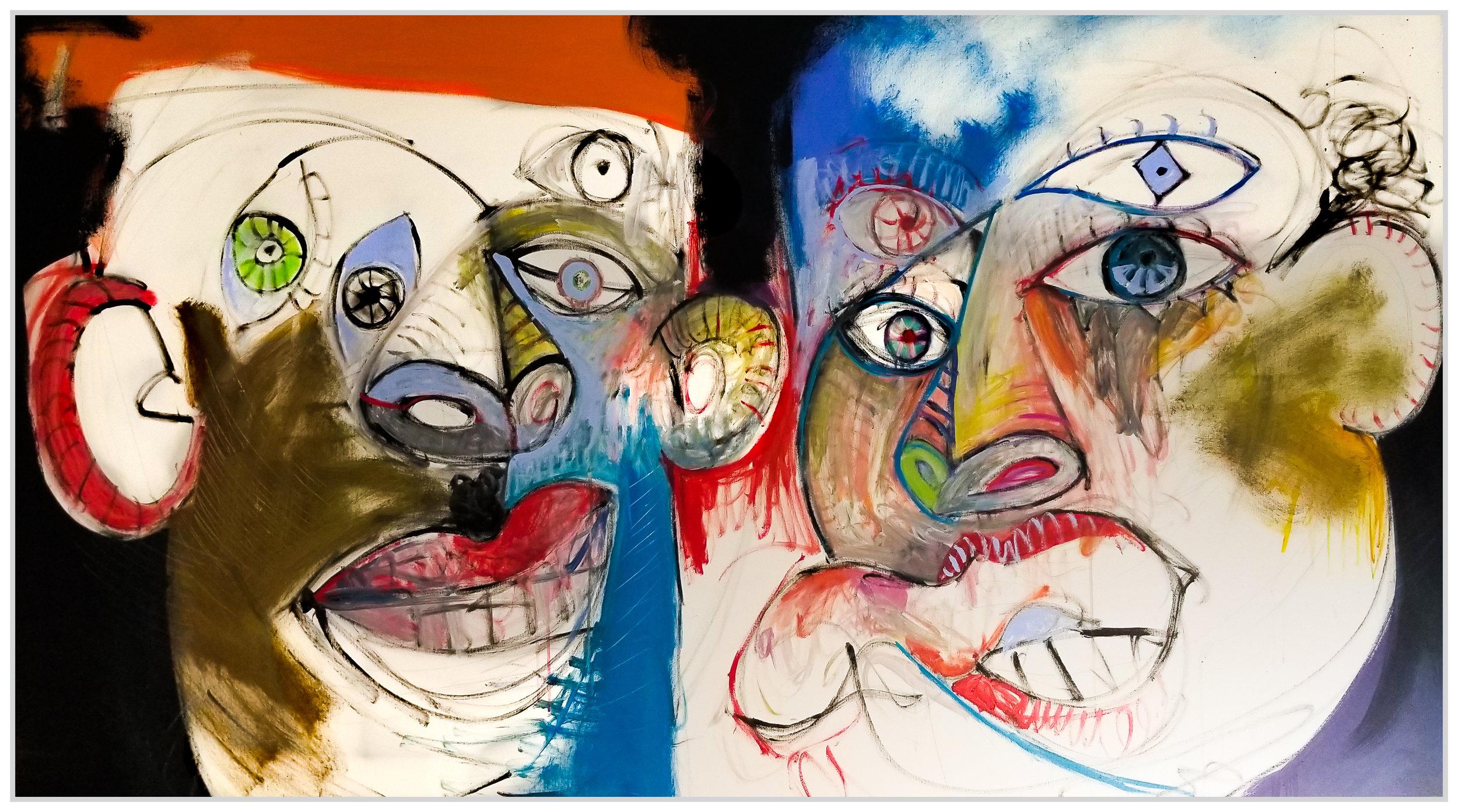 "Untitled #131, 2019, acrylic on canvas, 48"" x 84"" (122 x 213 cm)"