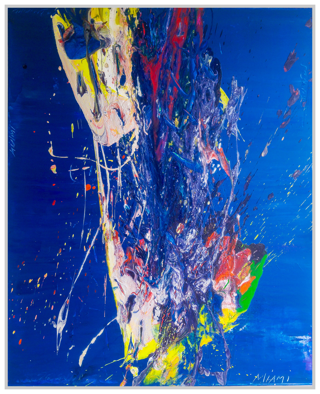 "Miami, 2018, acrylic on canvas, 60"" x 48"" (152.4 x 122 cm)"