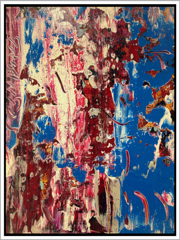 "Untitled #40, 2016, acrylic on panel, 16"" x 12"" (40.6 x 30.5 cm)"