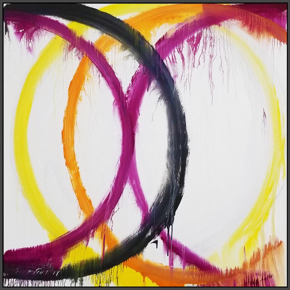 "Circle #1, 2018, acrylic on canvas, 72"" x 72"" (183 x 183 cm)"