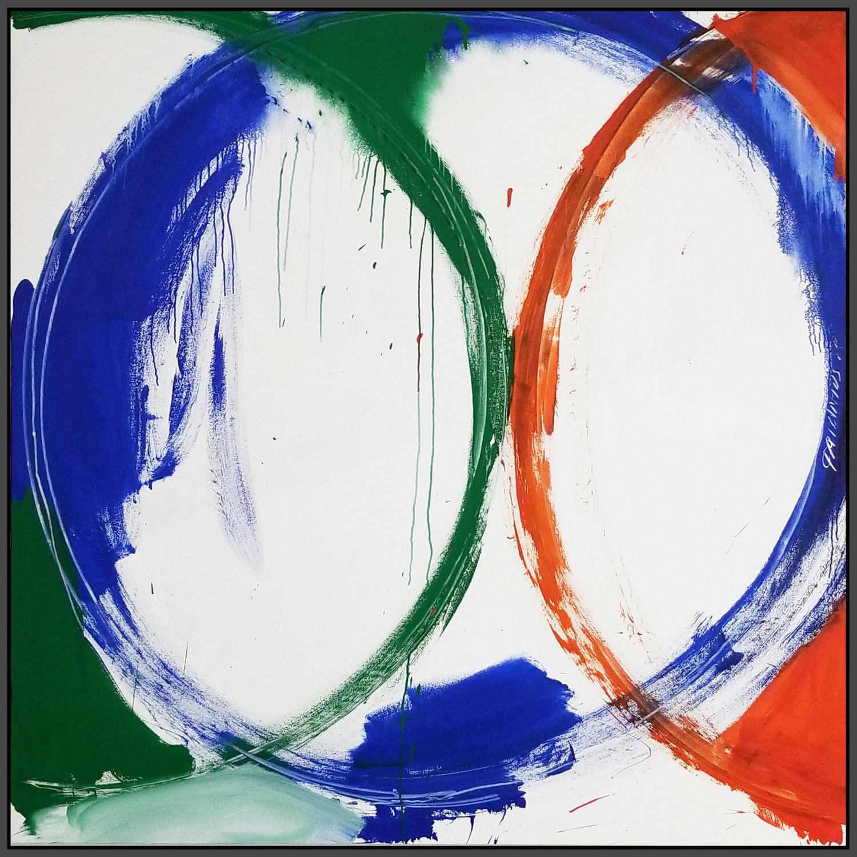 "Circle #2, 2018, acrylic on canvas, 72"" x 72"" (183 x 183 cm)"