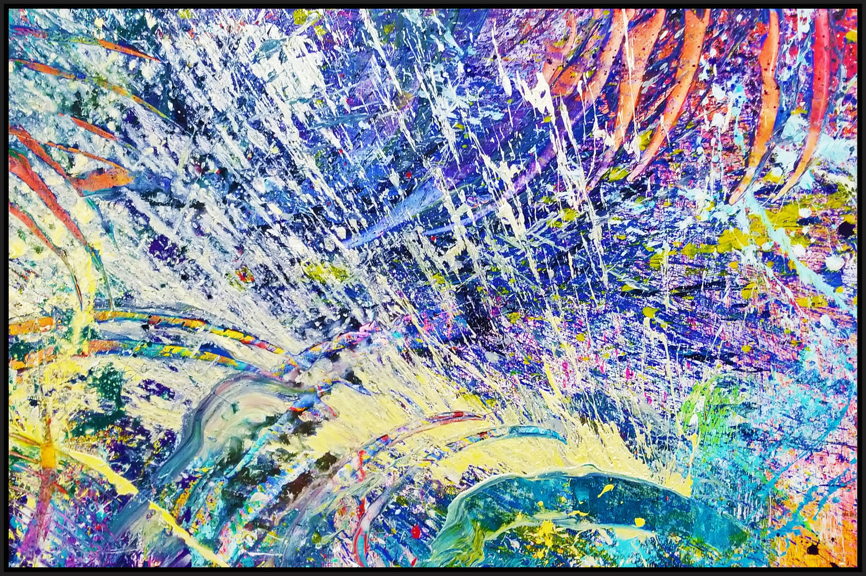 "Napa Valley #45, 2017, acrylic on canvas, 48"" x 72"" (122 x 183 cm) in New York, USA"