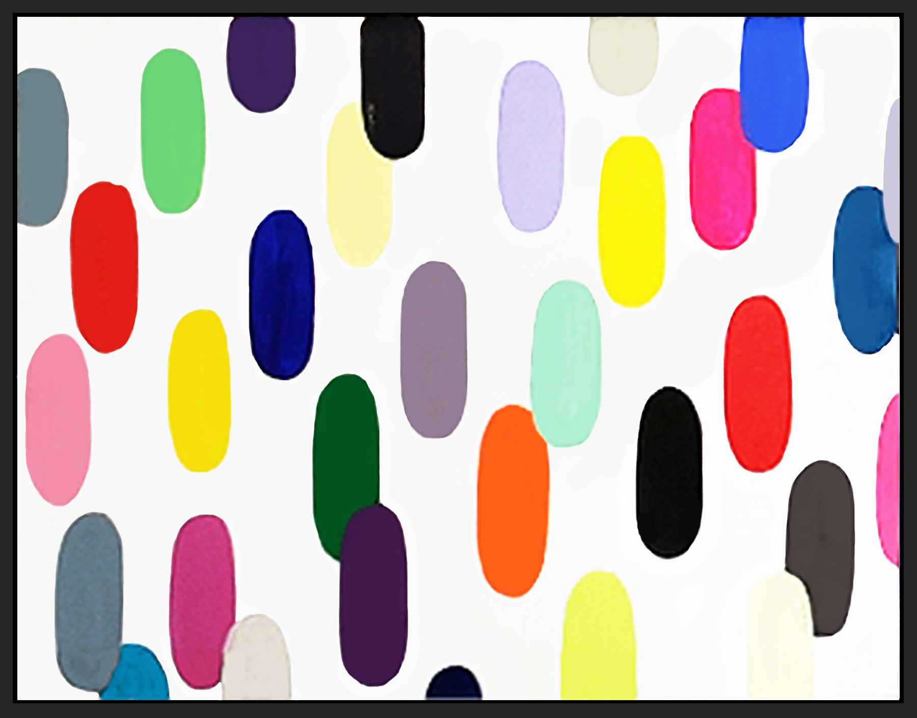 "Jelly Bean#59, 2018, acrylic on canvas, 48"" x 36"" (122 x 91.4 cm) in Seoul, Korea"