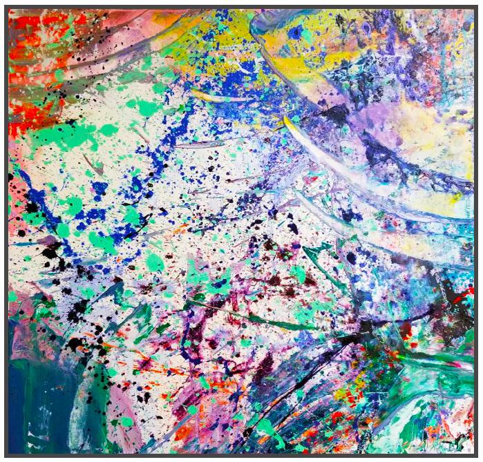 "Napa Valley #49, 2018, acrylic on canvas, 40"" x 40"" (101.6 x 101.6 cm) in Seoul, Korea"
