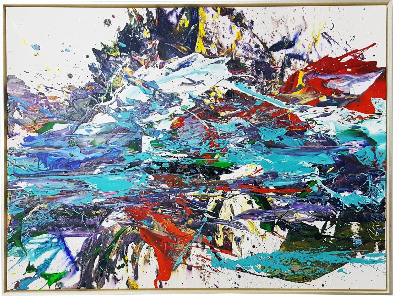 """SP² #23, 2017, acrylic on canvas, 48"""" x 36"""" (122 x 91.4 cm)"""
