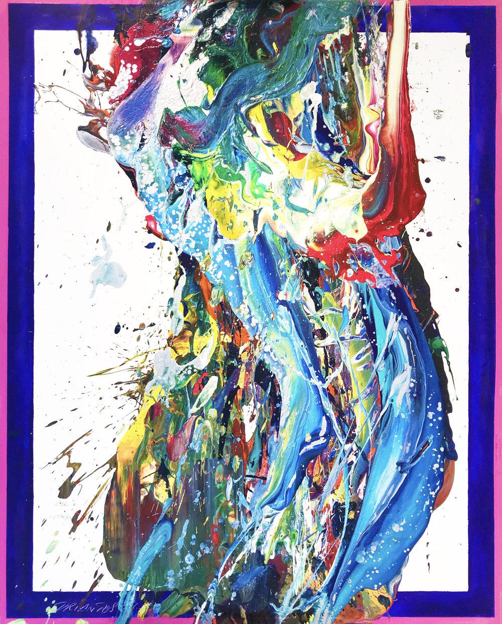 """SP² #62, 2017, acrylic on canvas, 60"""" x 48"""" (152.4 x 122 cm)"""
