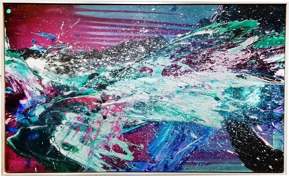 """SP² #74, 2017, acrylic on canvas, 36"""" x 60"""" (91.4 x 152.4 cm)"""