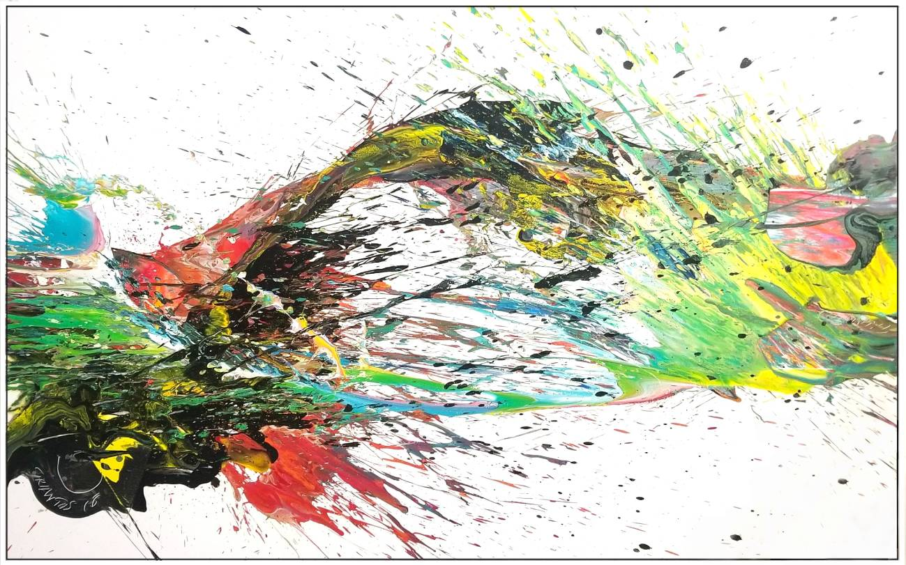 "Splash of Colour 2 #135, 2019, acrylic on canvas, 60"" x 96"" (152.4 x 244 cm)"