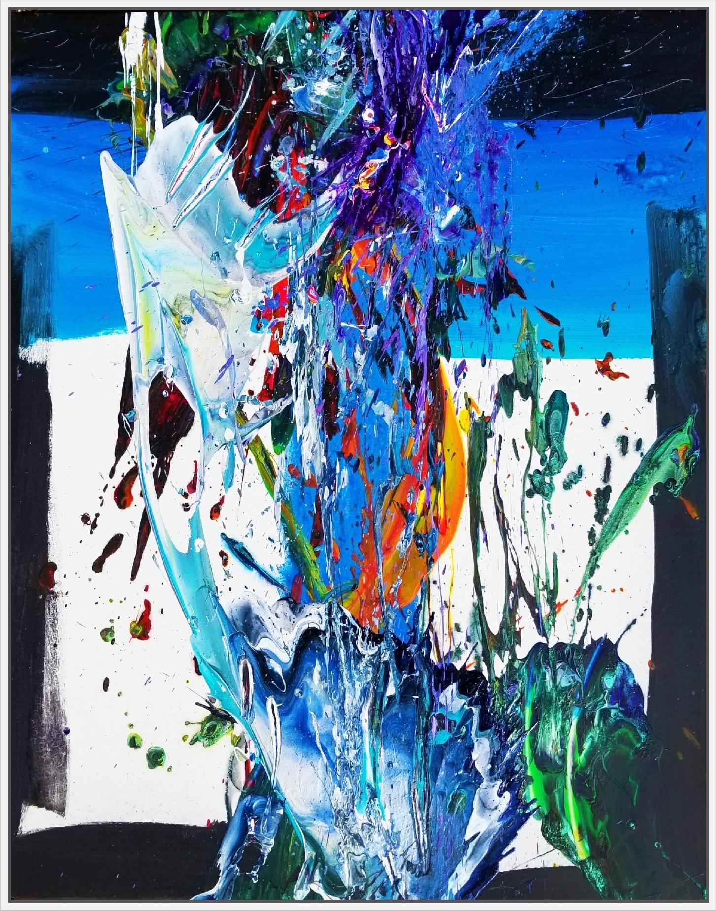"""SP² #92, 2018, acrylic on canvas, 60"""" x 48"""" (152.4 x 122 cm)"""