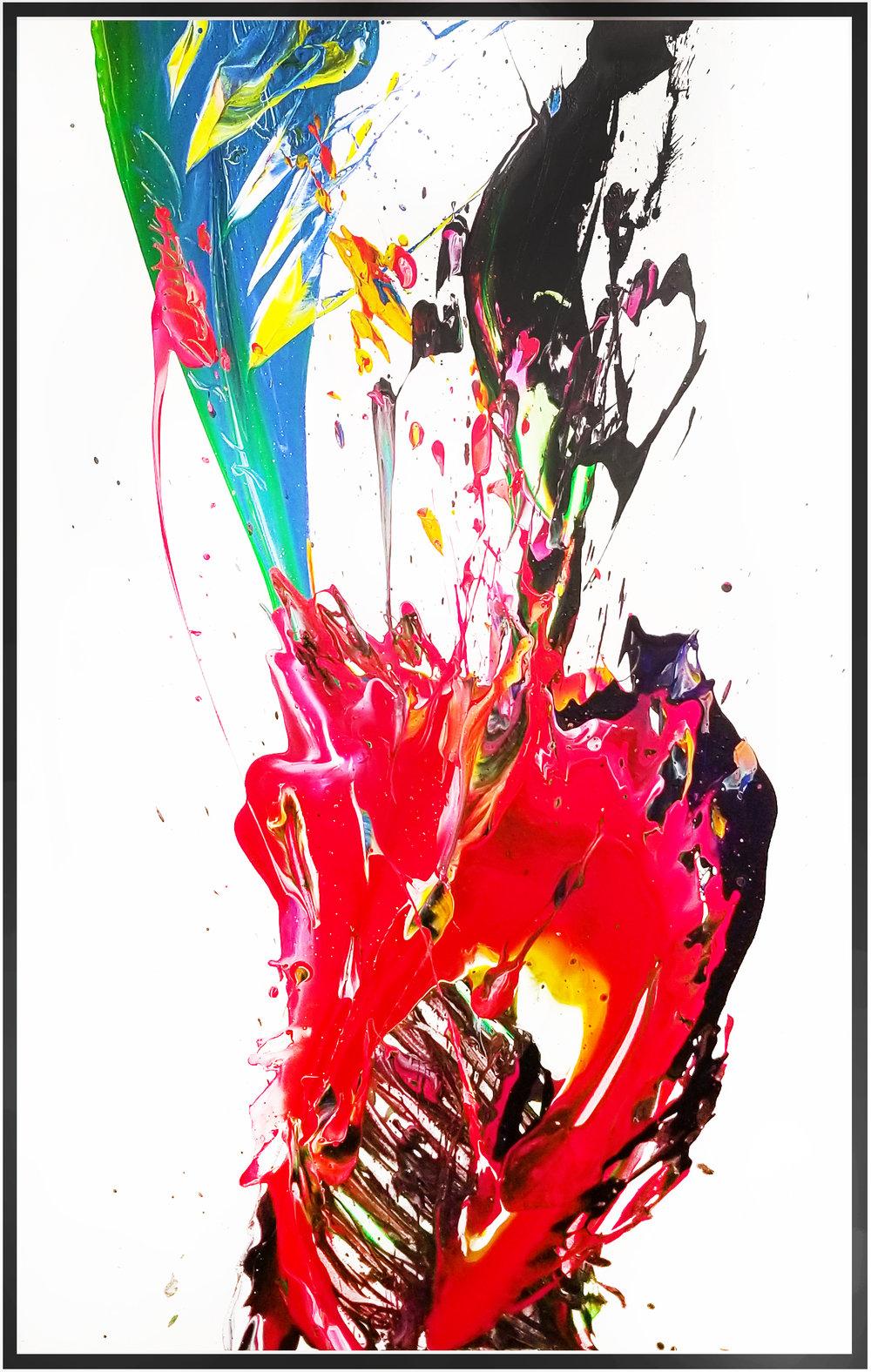 """SP² #93, 2017, acrylic on canvas, 36"""" x 60"""" (91.4 x 152.4 cm) in Seoul, Korea"""