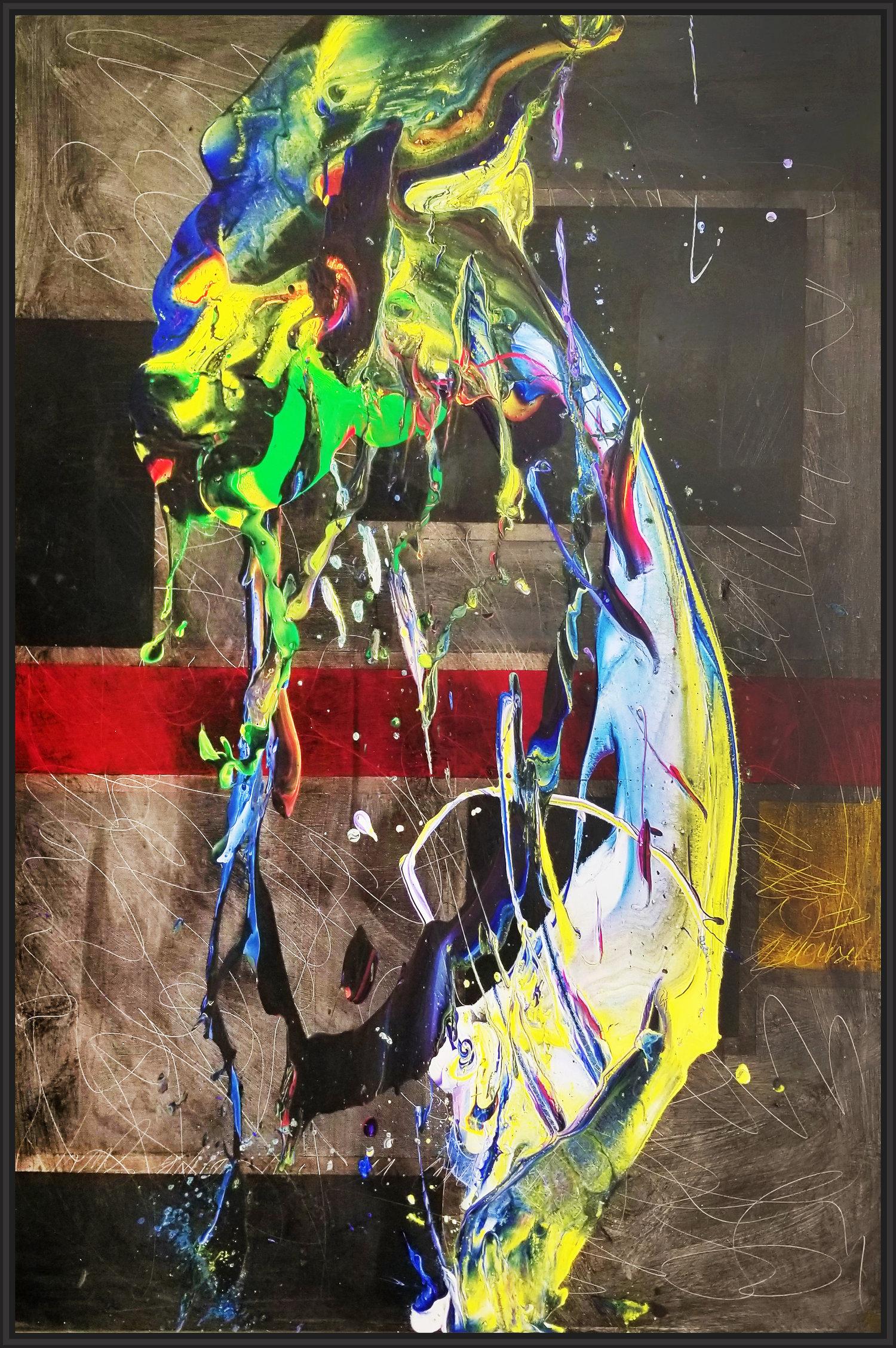"""SP² #105, 2017, acrylic on canvas, 54"""" x 36"""" (137 x 91.4 cm)"""