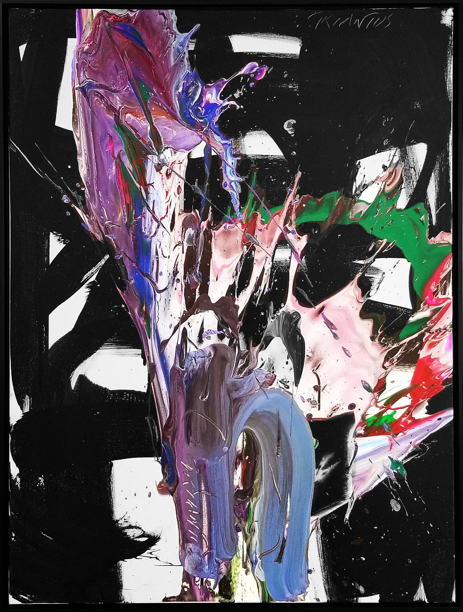"""SP²#129, 2018, acrylic on canvas, 48"""" x 36"""" (121 x 91.4 cm)"""