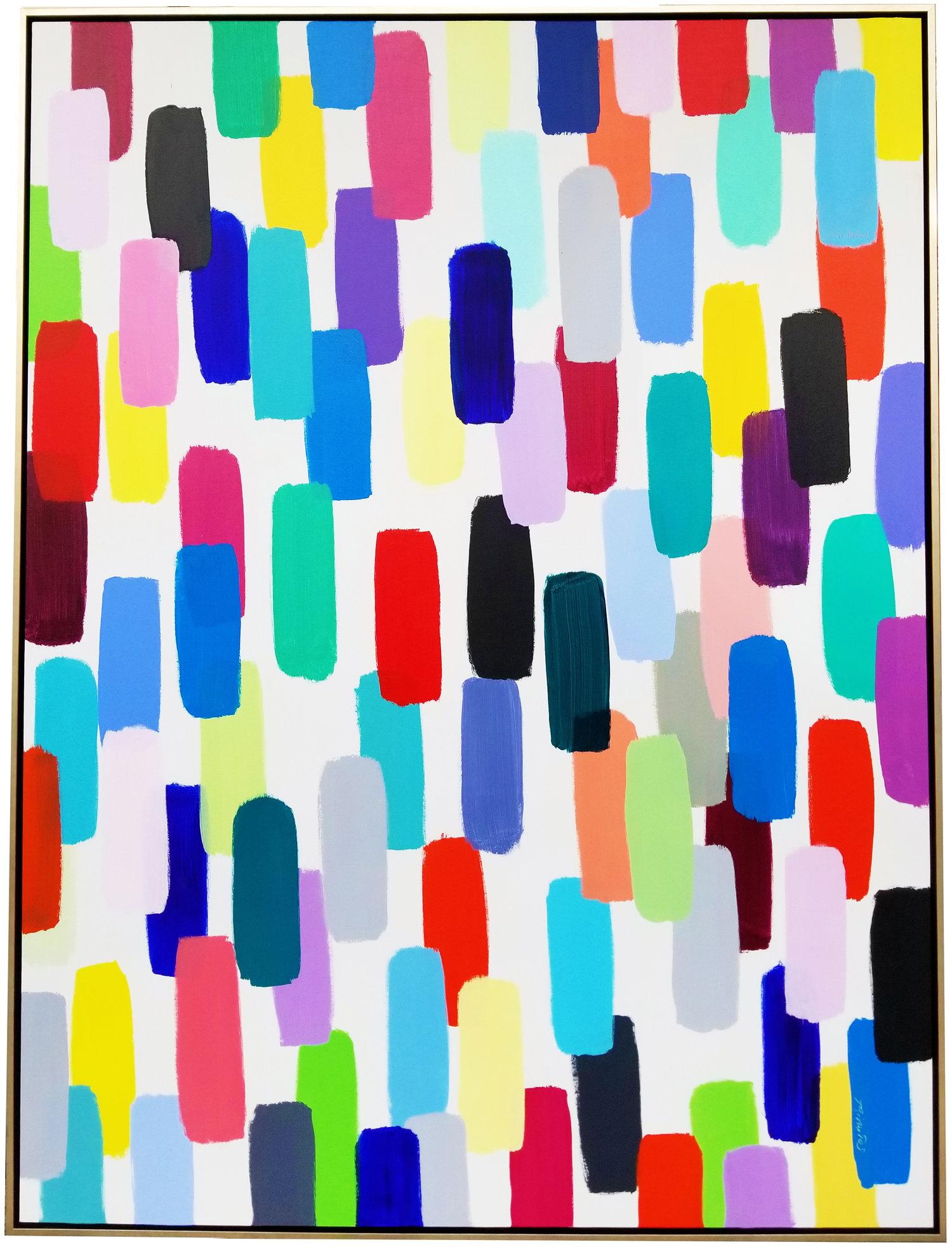 "Jelly Bean #38, 2017, acrylic on canvas, 72"" x 54"" (183 x 137 cm) in New York, USA"