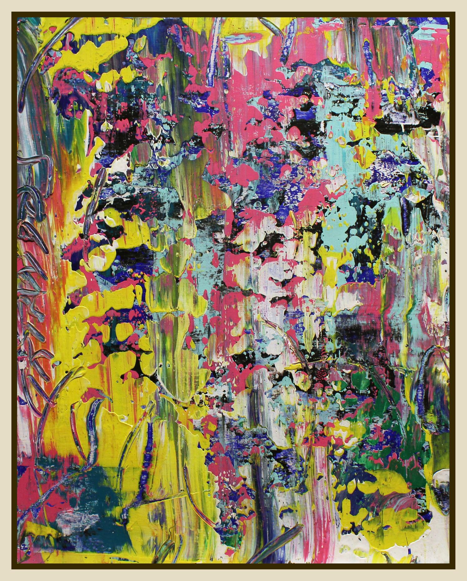 "Untitled #206, 2016, acrylic on panel, 20"" x 16"" (51 x 40.6 cm)"