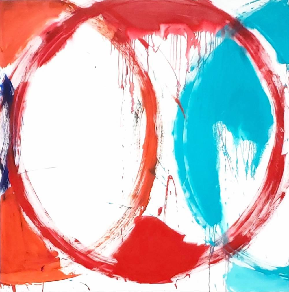 "Circle #3, 2019, acrylic on canvas, 72"" x 72"" (183 x 183 cm)"