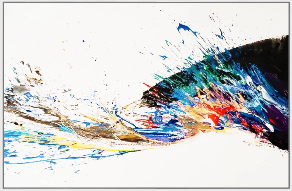 "Splash of Colour 2 #151, 2019, acrylic on canvas, 60"" x 96"" (152.4 x 244cm)"