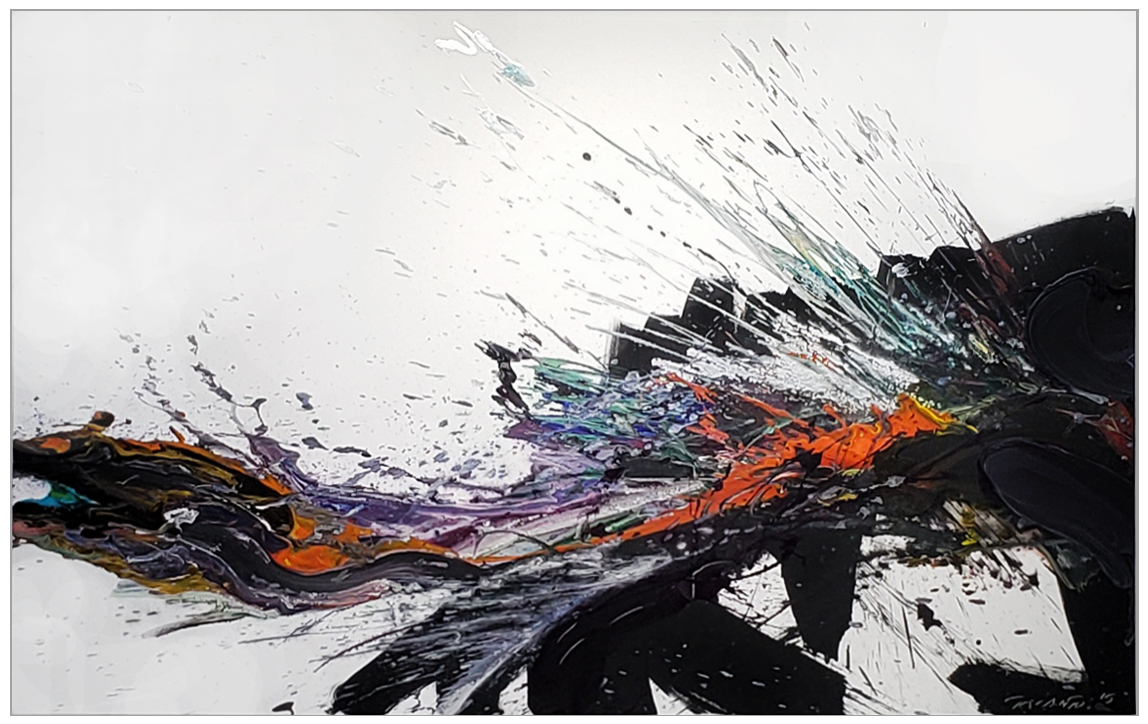 "Splash of Colour 2 #152, 2019, acrylic on canvas, 60"" x 96"" (152.4 x 244cm)"
