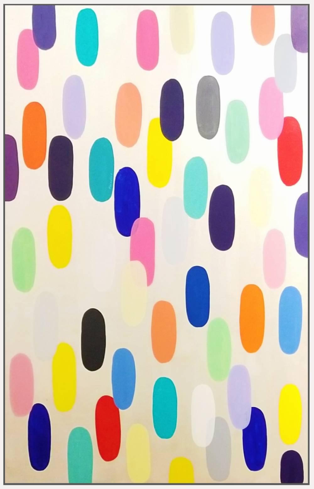 """Jelly Bean #65, 2019, acrylic on canvas, 72"""" x 48"""" (183 x 122cm) in Seoul, Korea"""