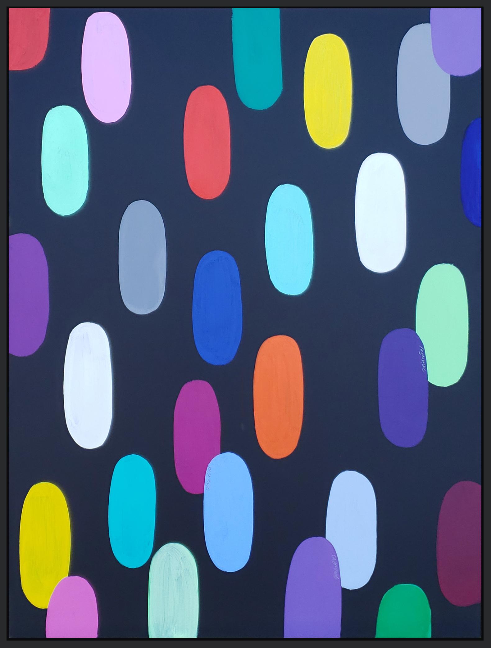 """Jelly Bean #70, 2019, acrylic on canvas, 48"""" x 36"""" (122 x 91.4cm)"""