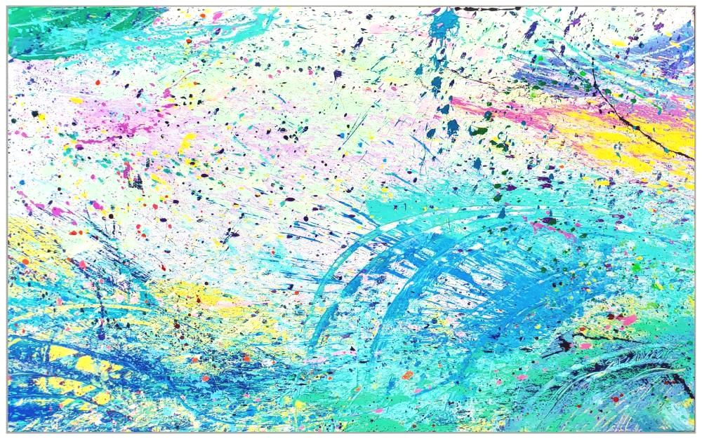 "Napa Valley #102, 2019, acrylic on canvas, 60"" x 96"" (152.4 x 244 cm)"