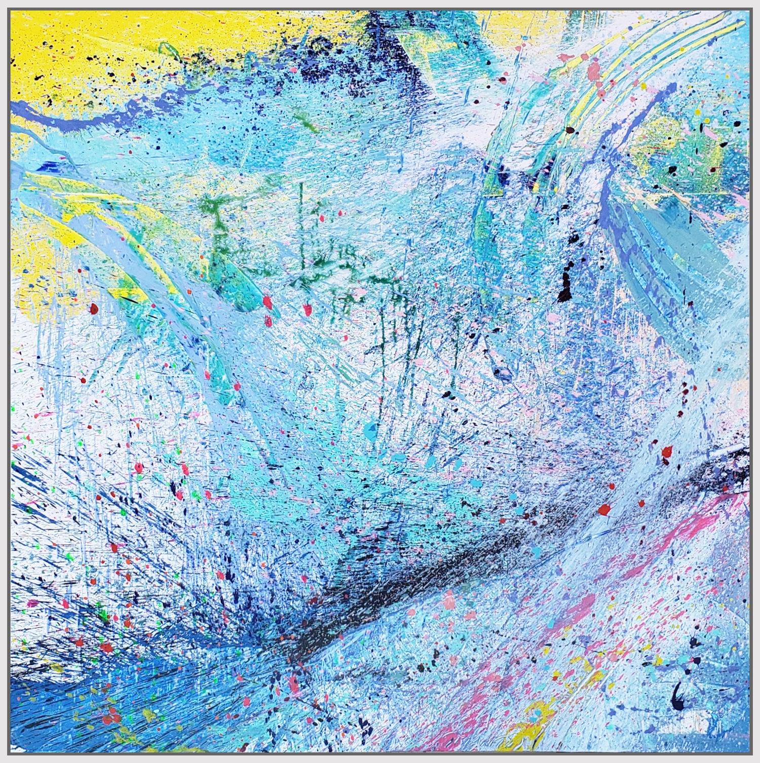 "Napa Valley #100, 2019, acrylic on canvas, 72"" x 72"" (183 x 183 cm)"