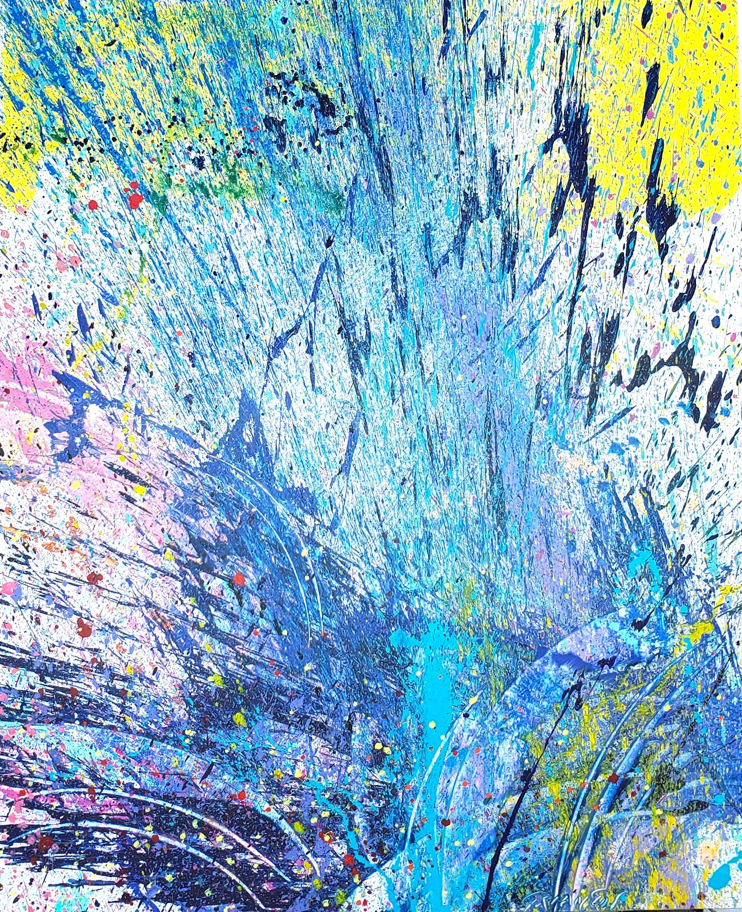 "Napa Valley #103, 2019, acrylic on canvas, 72"" x 60"" (183 x 152.4cm)"