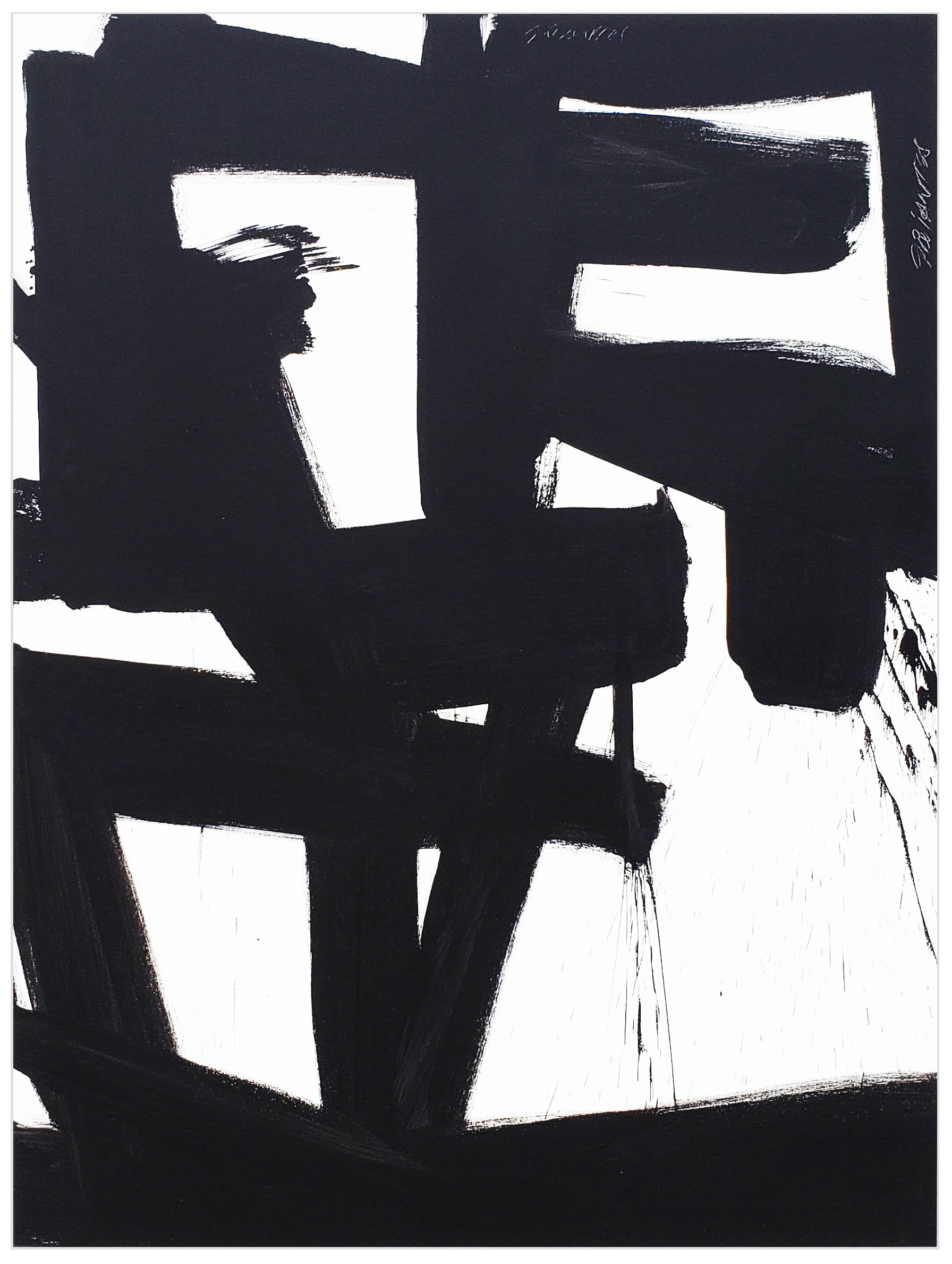 """Black and White #82, 2019, acrylic on canvas, 48"""" x 36"""" (122 x 91.4 cm)"""