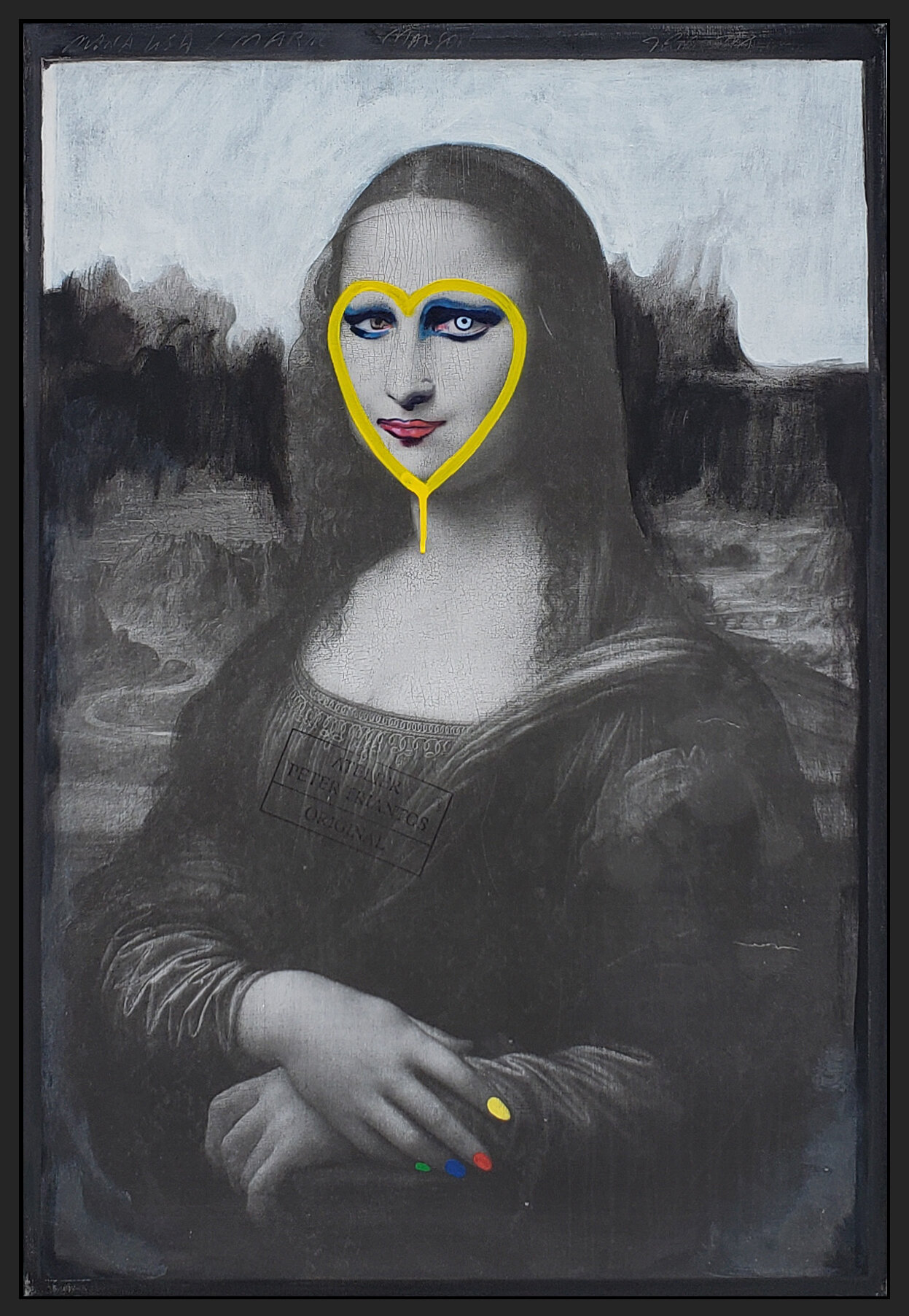 "Mona Manson, 2019, acrylic on canvas, 36"" x 24"" (91.4 x 61cm)"