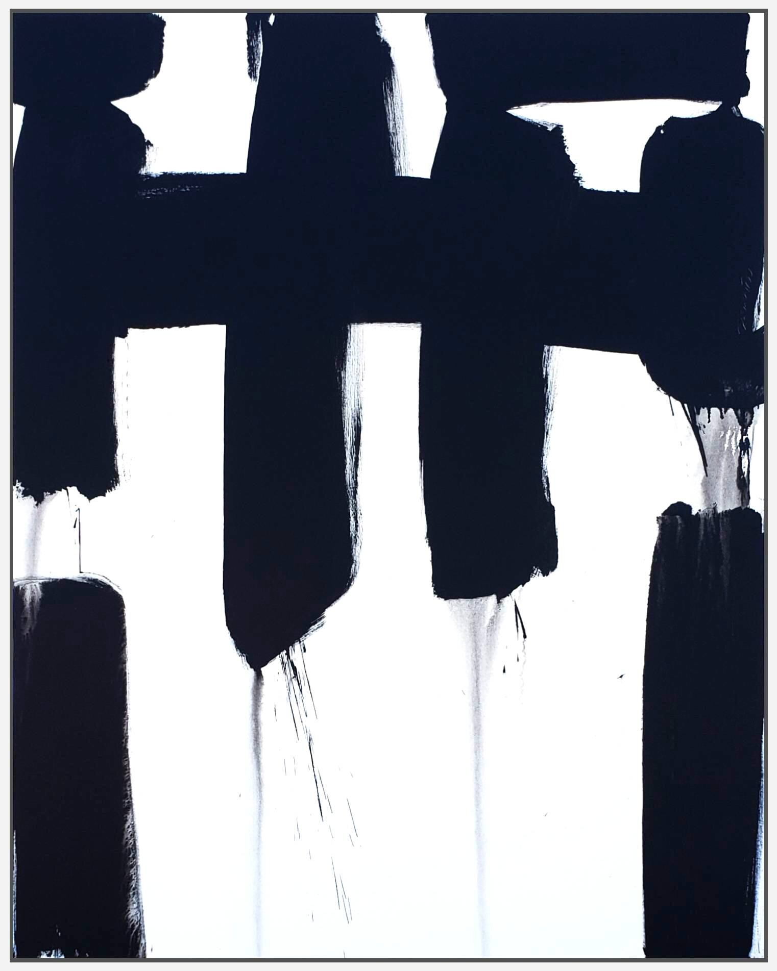 "Black and White #88, 2019, acrylic on canvas, 60"" x 48"" (152.4 x 122cm)"