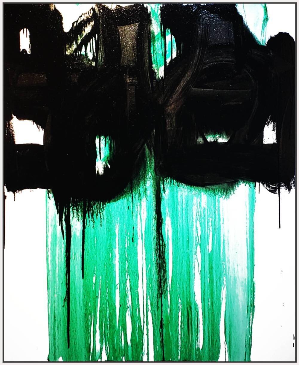 "Untitled #10, 2019, acrylic on canvas, 72"" x 48"" ( 183 x 122cm )"