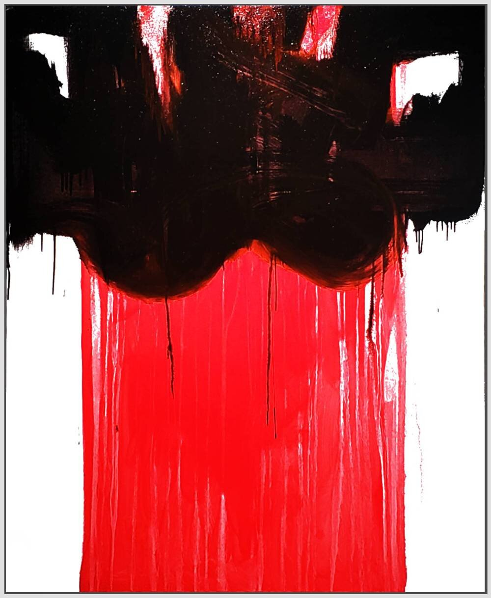 "Untitled #16, 2019, acrylic on canvas, 72"" x 48"" ( 183 x 122cm )"