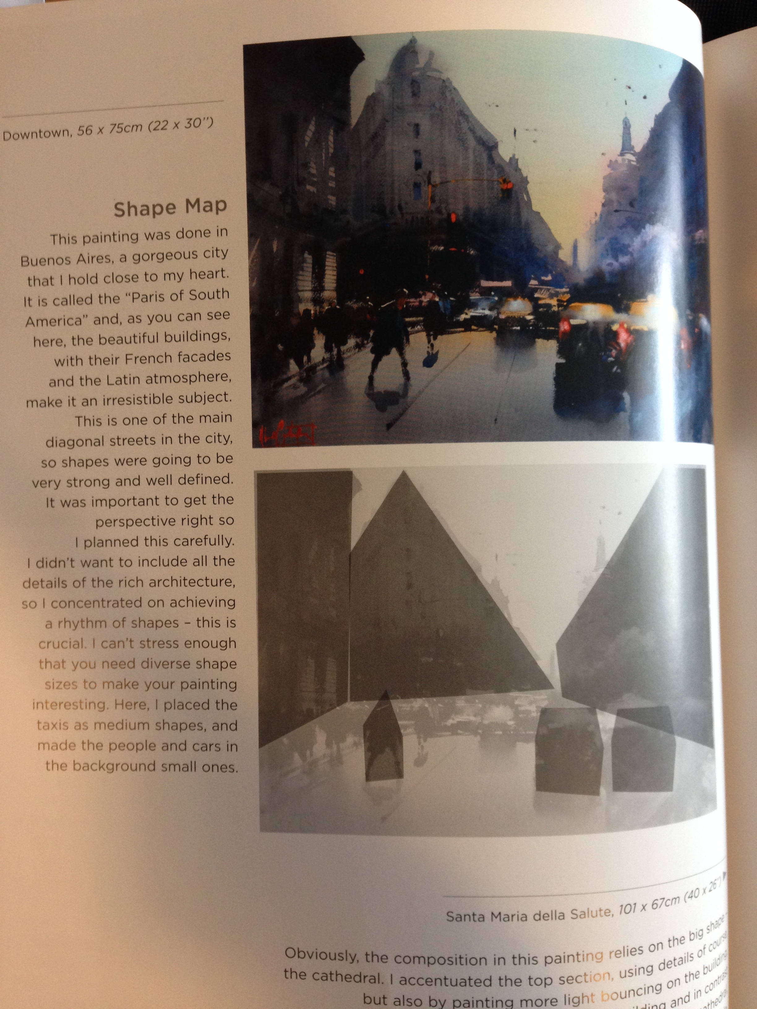 Here you can also see one of the blurbs, where he talks about the specifics of a painting...