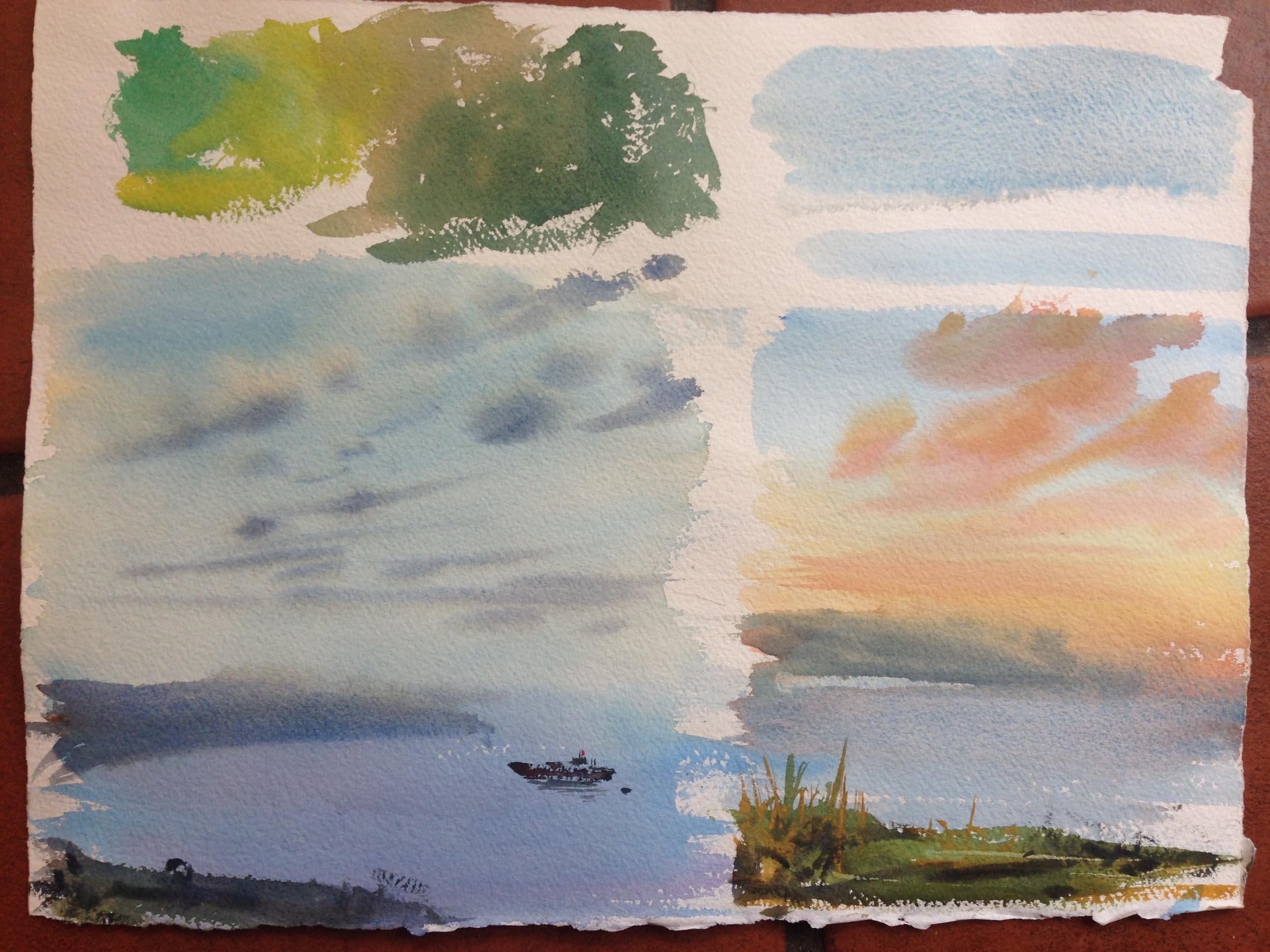 Little mini-compositions help too- it's good to see a new pigment applied. you can see its applications better when its in context.