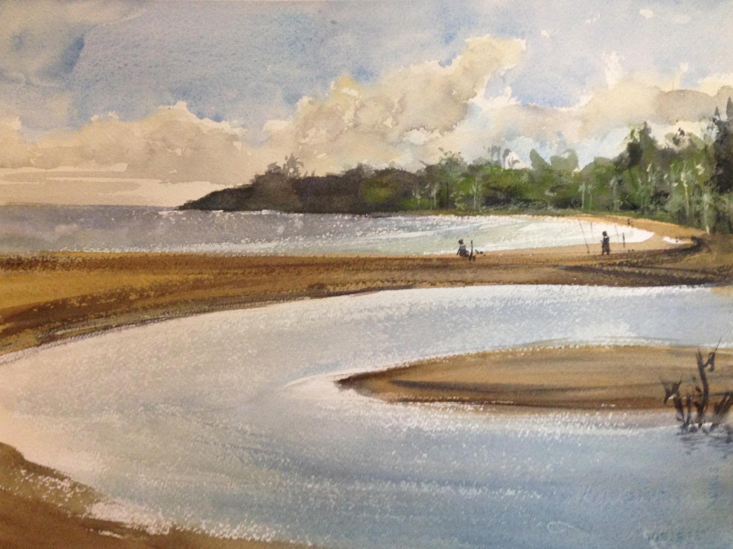 1st painting- plein air