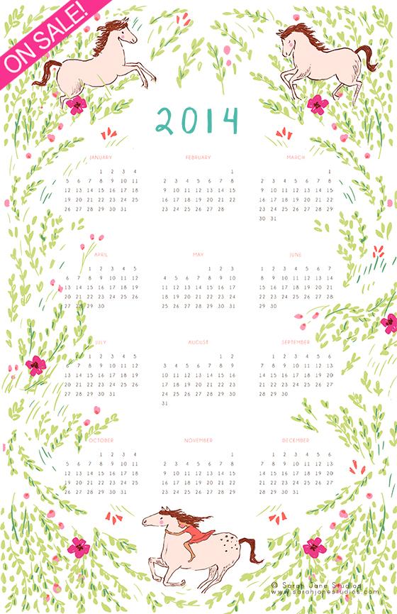 2014 calendar web on sale