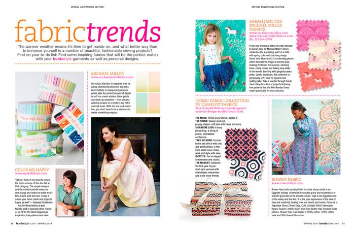 burda style spring 2014 press